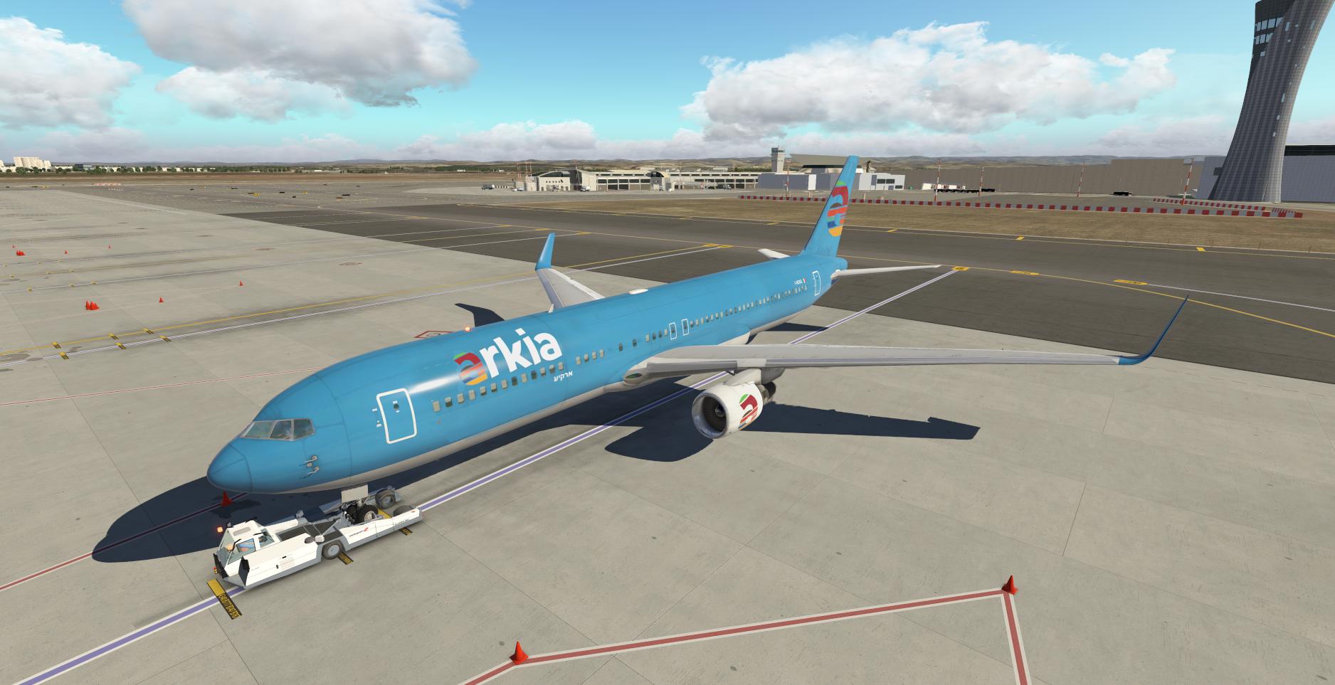 LLBG-LCLK Arkia Boeing 767 Xplane 11 - תמונות וסרטונים / Screenshots